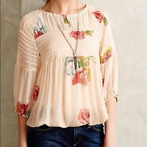 Anthropologie Tea Rose blouse - one fine day